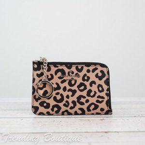 NWT Kate Spade New York Darcy Leopard Medium L-zip Cardholder